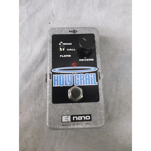 Electro-Harmonix Holy Grail Nano Reverb Black And Silver Effect Pedal