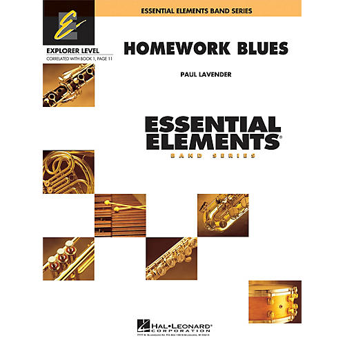 Hal Leonard Homework Blues Concert Band Level 0.5 Arranged by Paul Lavender