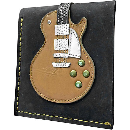 Axe Heaven Honey Burst Single Cutaway Electric Guitar Wallet - Handmade - Genuine Leather-thumbnail