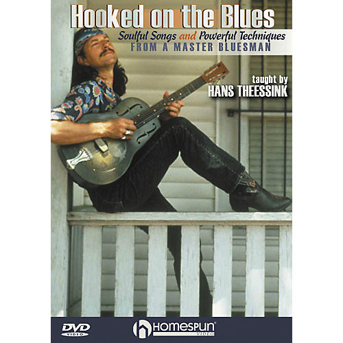 Homespun Hooked on the Blues - Dynamic Guitar Techniques (DVD)-thumbnail