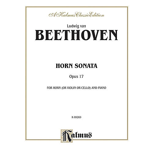 Alfred Horn Sonata Op. 17 for French Horn By Ludwig van Beethoven Book-thumbnail