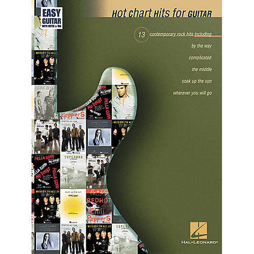 Hal Leonard Hot Chart Hits for Easy Guitar Book