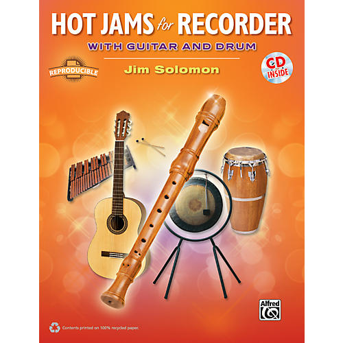 Alfred Hot Jams for Recorder (Book/CD)-thumbnail