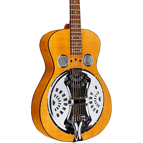 Dobro Hound Dog Deluxe Round Neck Acoustic-Electric with Pickup-thumbnail