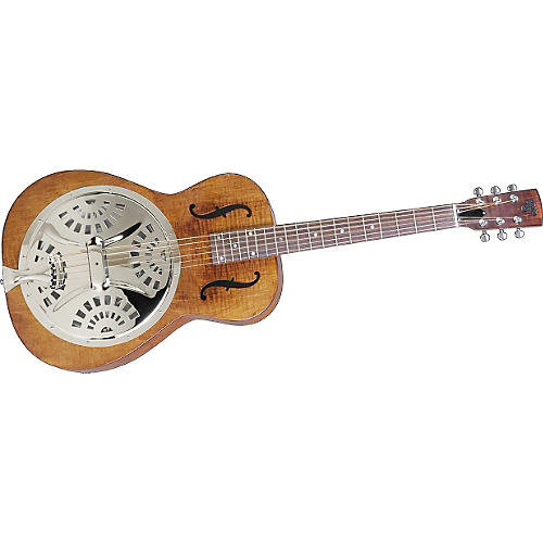 Dobro Hound Dog Resophonic Guitar Transparent Brown Roundneck