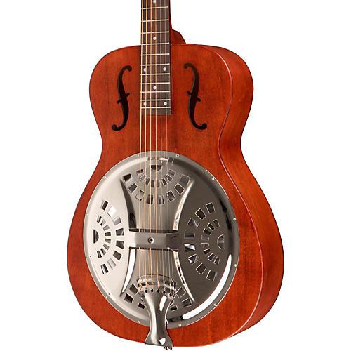 Dobro Hound Dog Round Neck Dobro Guitar Vintage Brown