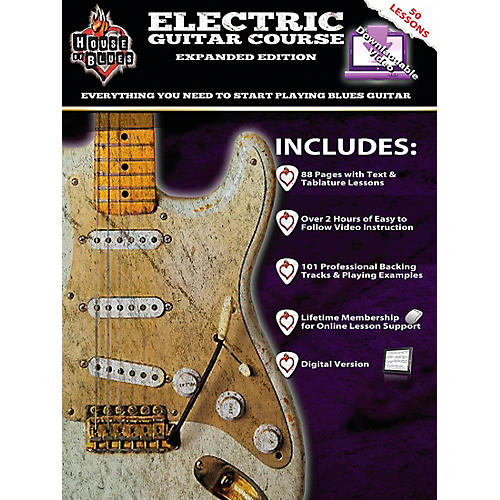 Hal Leonard House Of Blues Electric Guitar Course Expanded Edition Book/2-DVD Set.-thumbnail