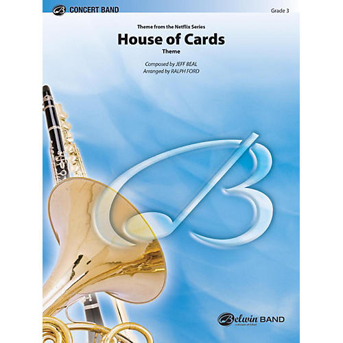 Alfred House of Cards (Theme) Concert Band Grade 3