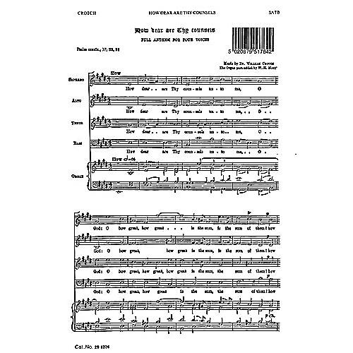 Novello How Dear Are Thy Counsels SATB Composed by William Crotch
