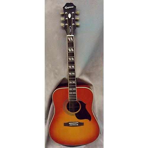 Epiphone Hummingbird Artist Faded Cherry Acoustic Guitar-thumbnail
