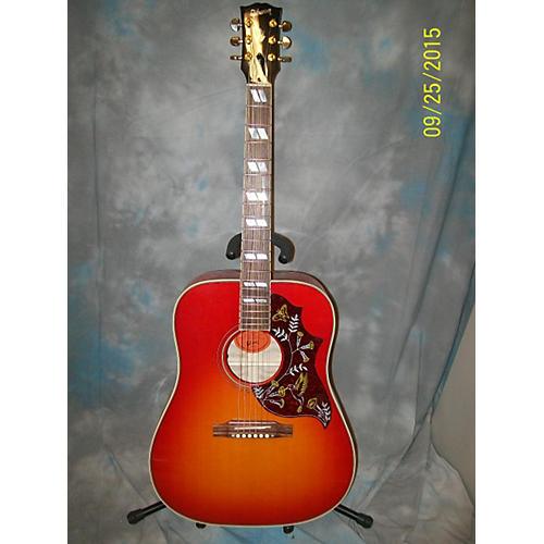 Gibson Hummingbird Custom Quilted Maple Heritage Cherry Sunburst Acoustic Guitar-thumbnail