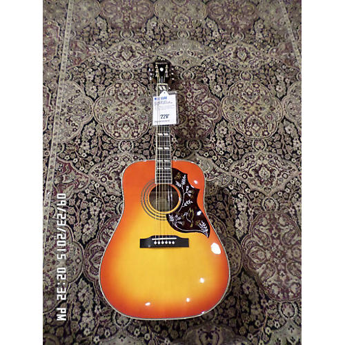 Epiphone Hummingbird Pro 2 Tone Sunburst Acoustic Electric Guitar-thumbnail