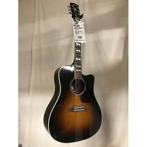Gibson Hummingbird Pro Cutaway Repaired Acoustic Electric Guitar