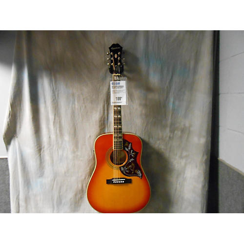 Epiphone Hummingbird Pro Faded 2 Color Sunburst Acoustic Electric Guitar-thumbnail