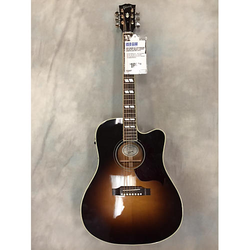 Gibson Hummingbird Pro W/Ctwy Vintage Sunburst Acoustic Electric Guitar-thumbnail