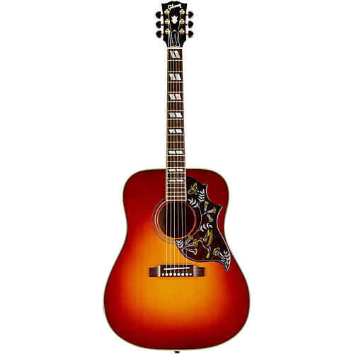 Gibson Hummingbird Quilted Red Spruce Acoustic-Electric Guitar Sunset Burst