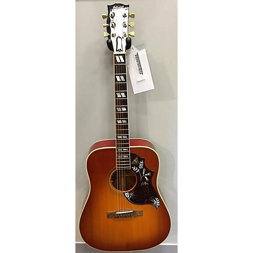 used gibson hummingbird square shoulder acoustic electric guitar heritage cherry guitar center. Black Bedroom Furniture Sets. Home Design Ideas