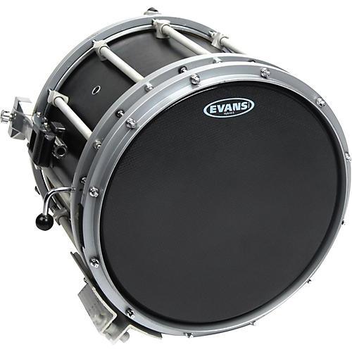 Evans Hybrid-Soft Marching Snare Drum Batter Head Black 13 in.