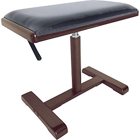 Stagg Hydraulic Piano Bench With Black Velvet Top Matte