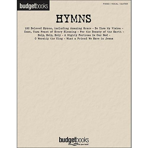 Hal Leonard Hymns - Budget Books arranged for piano, vocal, and guitar (P/V/G)