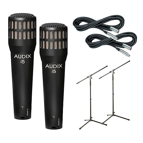 Audix I-5 Mic with Cable and Stand 2 Pack-thumbnail