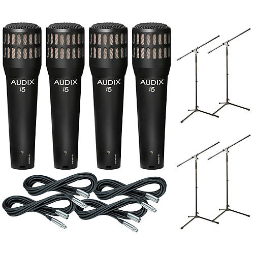 Audix I-5 Mic with Cable and Stand 4 Pack-thumbnail