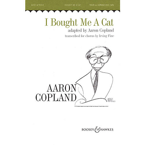 Boosey and Hawkes I Bought Me a Cat (SATB and Piano) SATB arranged by Irving Fine