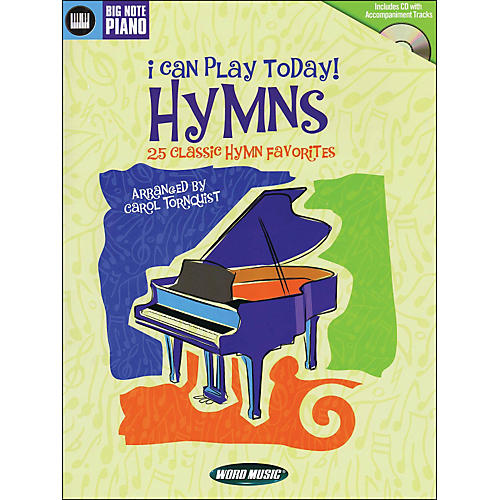 Word Music I Can Play Today (Hymns) Book/CD arranged for easy piano