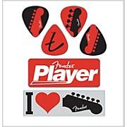 Fender I Love Fender Die-Cut Stickers (6 Pack)