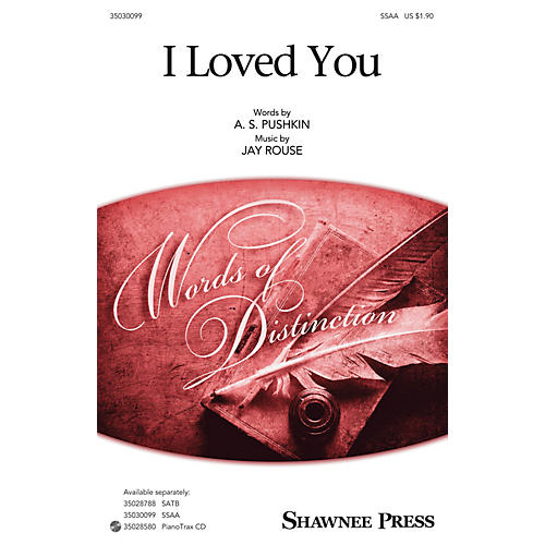 Hal Leonard I Loved You SSAA composed by Jay Rouse