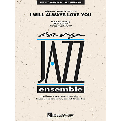 Hal Leonard I Will Always Love You - Easy Jazz Ensemble Series Level 2-thumbnail