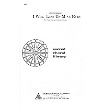 Boston Music I Will Lift Up Mine Eyes SATB Composed by Leo Sowerby