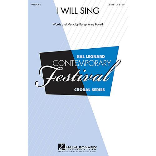 Hal Leonard I Will Sing SATB composed by Rosephanye Powell