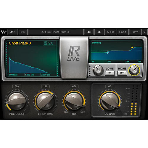 Waves IR-Live Convolution Reverb Native/TDM/SG Software Download