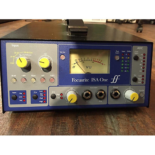 Focusrite ISA One VU Meter BLACK Microphone Preamp