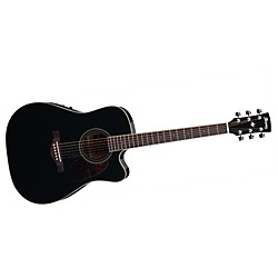 Ibanez Artwood Series AW70ECE Solid Top Dreadnought Cutaway Acoustic-Electric Guitar