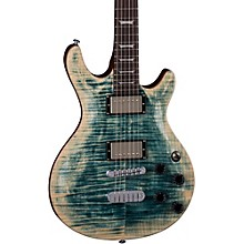 Icon Flame Top Electric Guitar Faded Denim