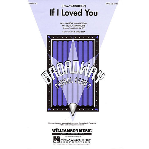 Hal Leonard If I Loved You (from Carousel) SATB arranged by Audrey Snyder