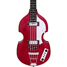 Ignition LTD Violin Electric Bass Guitar Metallic Red