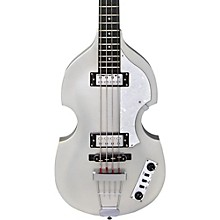 Ignition LTD Violin Electric Bass Guitar Silver Sparkle
