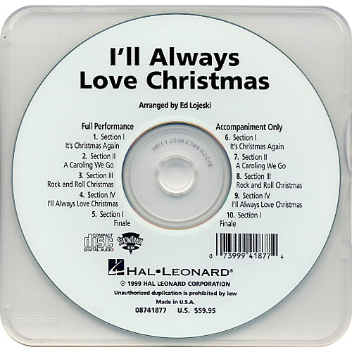 Hal Leonard I'll Always Love Christmas - Performance CD-thumbnail