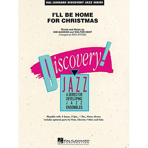 Hal Leonard I'll Be Home for Christmas Jazz Band Level 1.5 Arranged by Rick Stitzel
