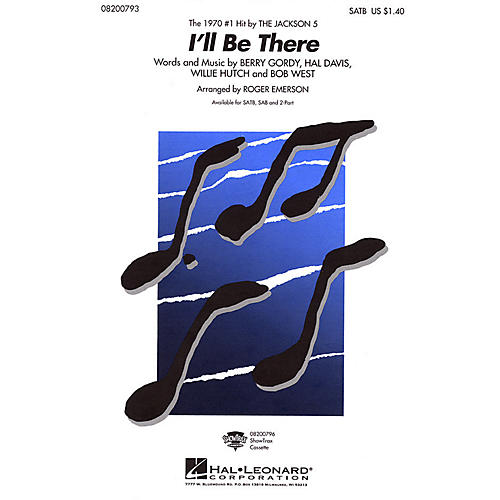 Hal Leonard I'll Be There 2-Part by The Jackson 5 Arranged by Roger Emerson