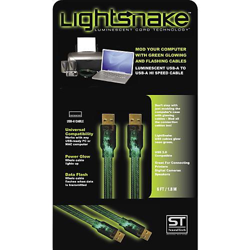 LightSnake Illuminated USB A to USB A Cable