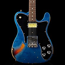 Fender Custom Shop Imperial Arc 1972 Telecaster Custom Masterbuilt by Paul Waller, Rosewood Blue Sparkle over 3-Color Sunburst