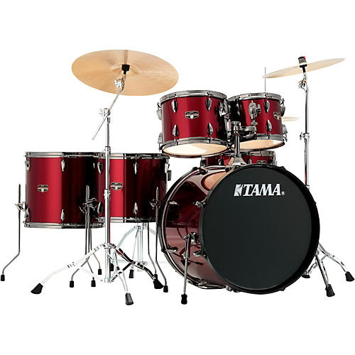 Tama Imperialstar 6-Piece Complete kit with Meinl HCS Cymbals and 22 in. Bass Drum-thumbnail