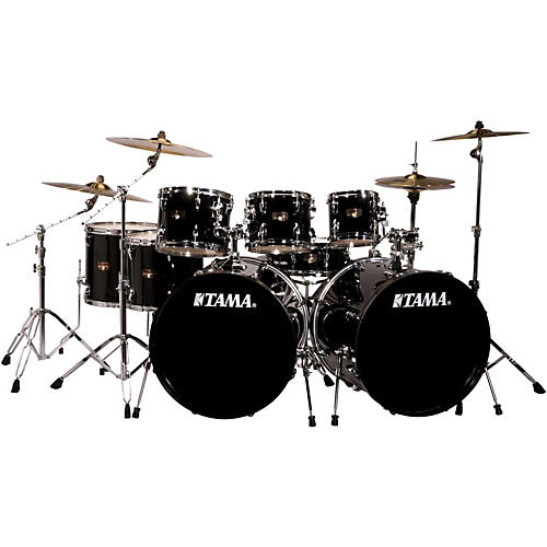 Tama Imperialstar 8-Piece Double Bass Drum Set with Meinl HCS Cymbals Black