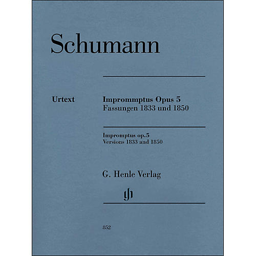 G. Henle Verlag Impromptus, Op. 5 (Versions 1833 and 1850) Piano Solo By Schumann-thumbnail