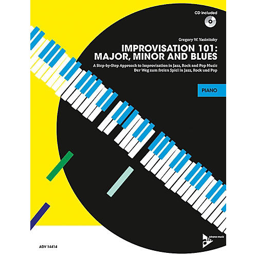 Alfred Improvisation 101: Major, Minor, and Blues Piano/Keyboard Book & CD-thumbnail