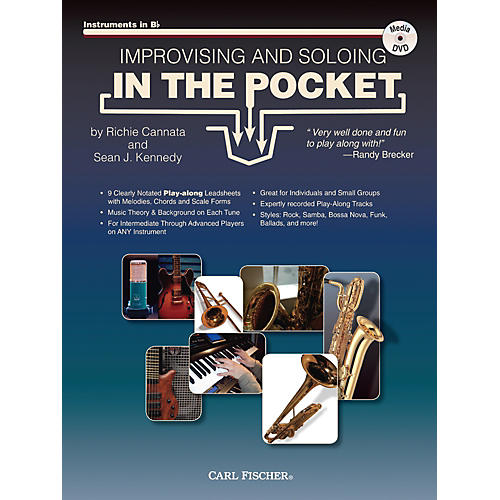 Carl Fischer Improvising And Soloing In the Pocket (For Bb Instruments) - Book/CD
